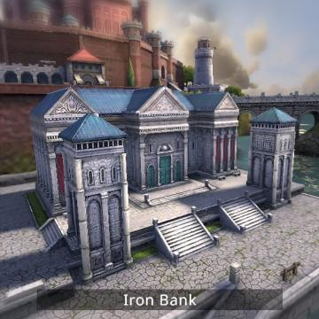 Screenshot of iron bank building.