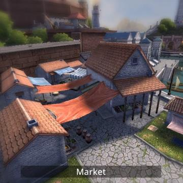 Screenshot of market building.