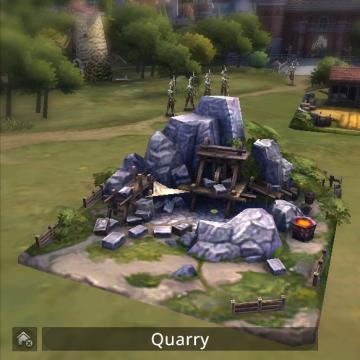 Screenshot of quarry building.