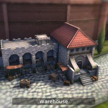 Screenshot of warehouse building.